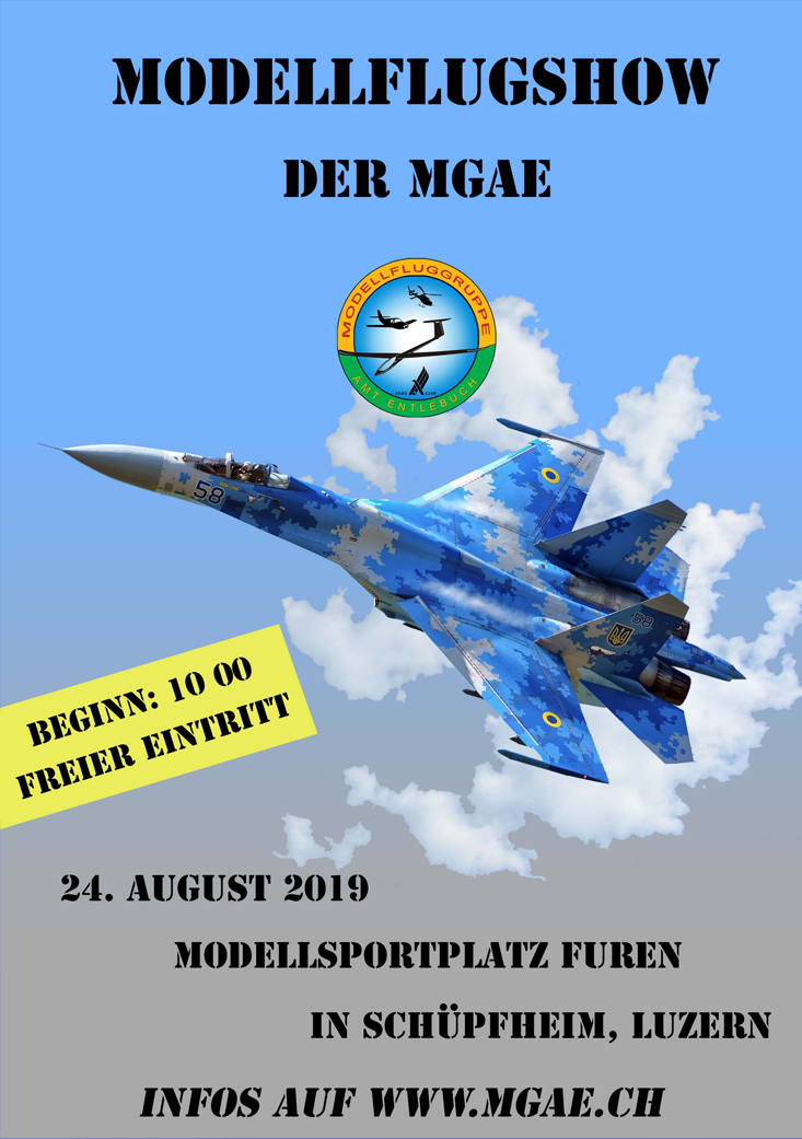 Flyer MGAE Showfluganlass 24.08.2019